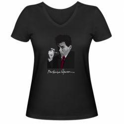Жіноча футболка з V-подібним вирізом Михайль Семенко