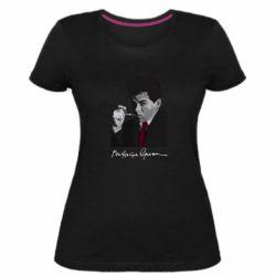 Жіноча стрейчева футболка Михайль Семенко