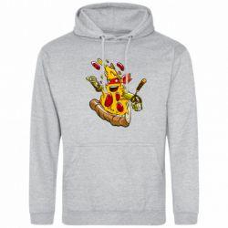 Мужская толстовка Микеланджело кусок пиццы - FatLine