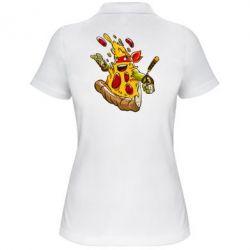 Женская футболка поло Микеланджело кусок пиццы - FatLine