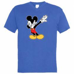 Чоловіча футболка з V-подібним вирізом Mikey dabing