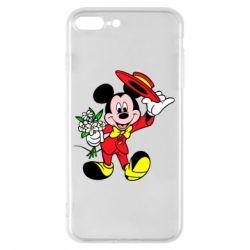 Чехол для iPhone 8 Plus Микки Джентельмен