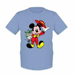 Детская футболка Микки Джентельмен
