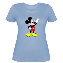 Женская футболка Микки Hello - FatLine