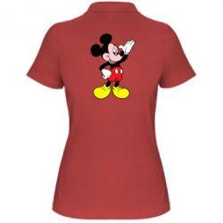 Женская футболка поло Микки Hello - FatLine