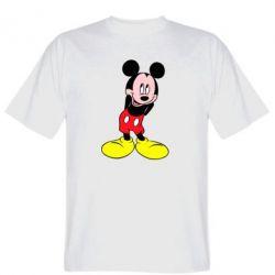 Мужская футболка Микки Маус стесняется - FatLine