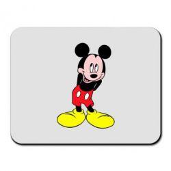 Коврик для мыши Микки Маус стесняется - FatLine