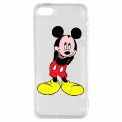 Чохол для iphone 5/5S/SE Міккі Маус соромиться