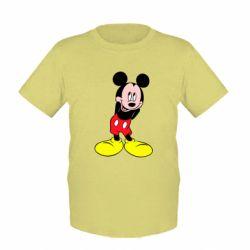 Детская футболка Микки Маус стесняется - FatLine