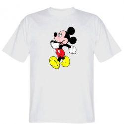 Мужская футболка Микки шагает - FatLine