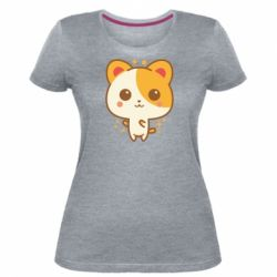 Жіноча стрейчева футболка Мила кися