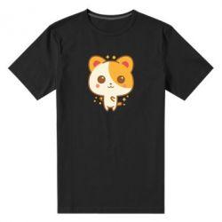 Чоловіча стрейчева футболка Мила кися