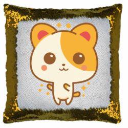 Подушка-хамелеон Милая кися