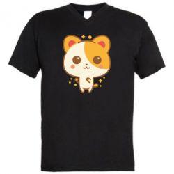 Чоловіча футболка з V-подібним вирізом Мила кися