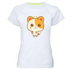 Женская спортивная футболка Милая кися