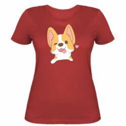 Жіноча футболка Милий коргі
