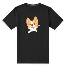 Чоловіча стрейчева футболка Милий коргі