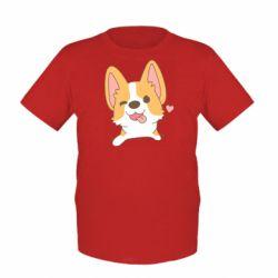 Дитяча футболка Милий коргі