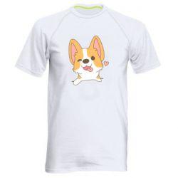 Чоловіча спортивна футболка Милий коргі