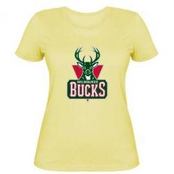 Женская футболка Milwaukee Bucks - FatLine