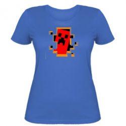 Женская футболка Minecraft 3D - FatLine