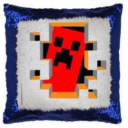Подушка-хамелеон Minecraft 3D