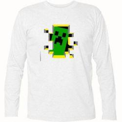 Футболка с длинным рукавом Minecraft 3D - FatLine