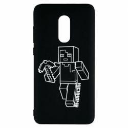 Чехол для Xiaomi Redmi Note 4 Minecraft and hero nickname