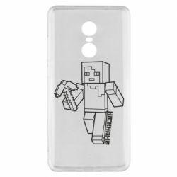 Чехол для Xiaomi Redmi Note 4x Minecraft and hero nickname