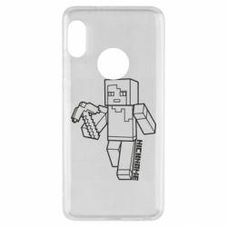 Чехол для Xiaomi Redmi Note 5 Minecraft and hero nickname