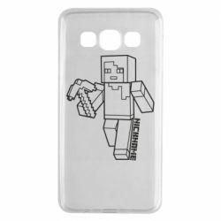 Чехол для Samsung A3 2015 Minecraft and hero nickname