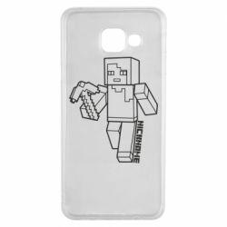 Чехол для Samsung A3 2016 Minecraft and hero nickname