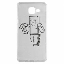 Чехол для Samsung A5 2016 Minecraft and hero nickname