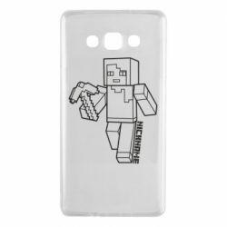Чехол для Samsung A7 2015 Minecraft and hero nickname