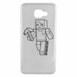 Чехол для Samsung A7 2016 Minecraft and hero nickname