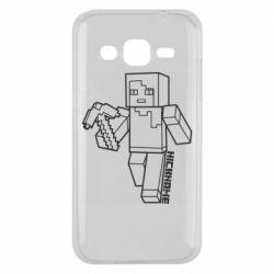 Чехол для Samsung J2 2015 Minecraft and hero nickname