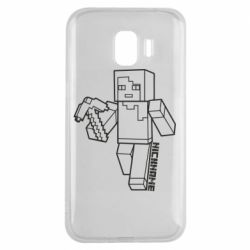 Чехол для Samsung J2 2018 Minecraft and hero nickname