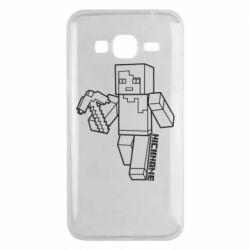 Чехол для Samsung J3 2016 Minecraft and hero nickname