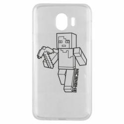 Чехол для Samsung J4 Minecraft and hero nickname