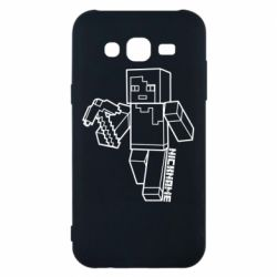 Чехол для Samsung J5 2015 Minecraft and hero nickname