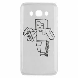 Чехол для Samsung J5 2016 Minecraft and hero nickname