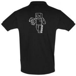 Мужская футболка поло Minecraft and hero nickname