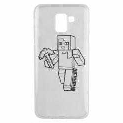 Чехол для Samsung J6 Minecraft and hero nickname