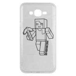 Чехол для Samsung J7 2015 Minecraft and hero nickname