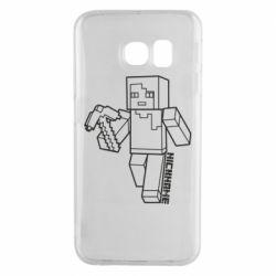 Чехол для Samsung S6 EDGE Minecraft and hero nickname