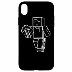 Чехол для iPhone XR Minecraft and hero nickname