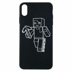 Чехол для iPhone Xs Max Minecraft and hero nickname