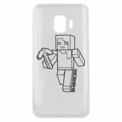 Чехол для Samsung J2 Core Minecraft and hero nickname