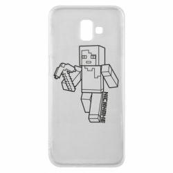 Чехол для Samsung J6 Plus 2018 Minecraft and hero nickname