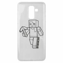 Чехол для Samsung J8 2018 Minecraft and hero nickname